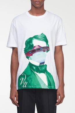 Белая футболка с рисунком и логотипом Valentino 210165567