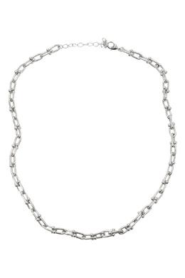 Серебристое колье-цепь с круглыми деталями Lisa Smith 1168166102