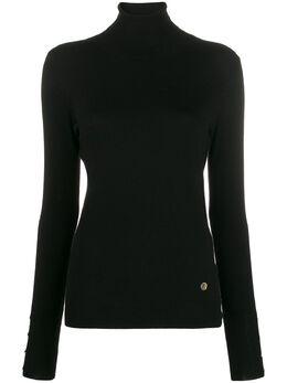Trussardi Jeans топ с высоким воротником и короткими рукавами 56M002380F000414