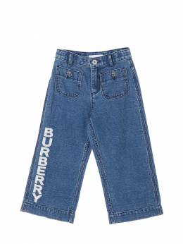 Cotton & Linen Denim Pants Burberry 71I91L026-QTE0NzQ1