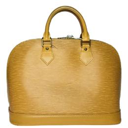 Louis Vuitton Citrine Yellow Epi Leather Alma BB Bag 246040
