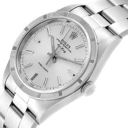 Rolex Silver Stainless Steel Air King 14010 Men's Wristwatch 34 MM 245509