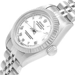 Rolex White 18K White Gold Stainless Steel Datejust 69174 Women's Wristwatch 26 MM 245522