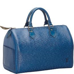 Louis Vuitton Blue Epi Leather Speedy 30 Bag 237063