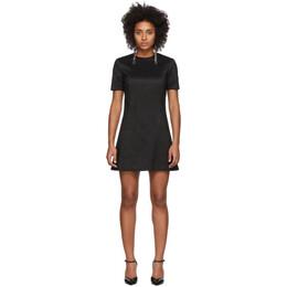 Saint Laurent Black Silk A-Line Dress 582689Y044J