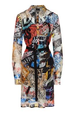 Платье с разноцветным принтом Ermanno Ermanno Scervino 1790165879