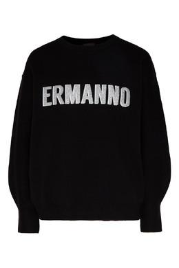 Джемпер с белым логотипом Ermanno Ermanno Scervino 1790165871