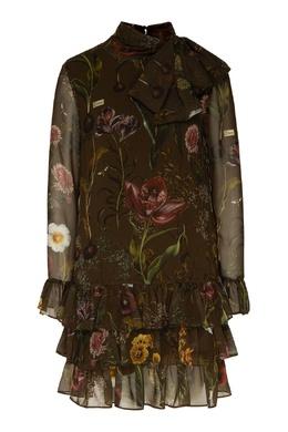 Зеленое платье с оборками Ermanno Ermanno Scervino 1790165880