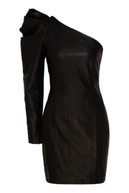 Ассиметричное кожаное платье мини P.a.r.o.s.h. 393166280