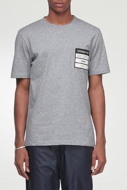 Серая футболка с отделкой Maison Margiela 1350165492