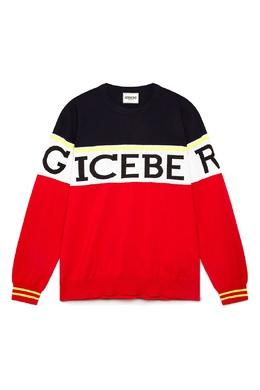 Красно-черный джемпер с логотипом Iceberg 1214165978