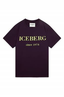 Фиолетовая футболка с логотипом Iceberg 1214165986