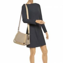 Cartier Beige Leather and Python Messenger Bag