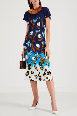 Синее платье с узором Paul Smith 1924144804