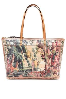 Бежевая сумка с рисунками Etro 907146359