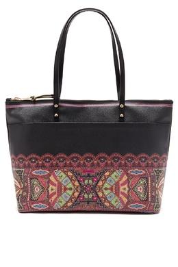 Черная сумка с орнаментами Etro 907146341