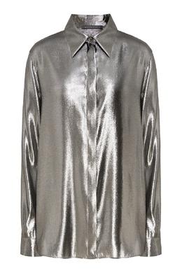 Серебристая шелковая блуза Alberta Ferretti 1771157682