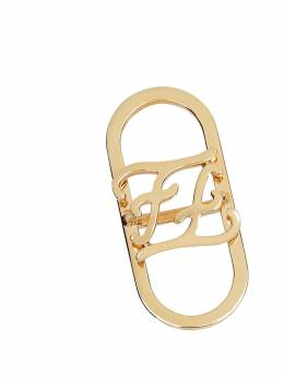 Fendi Karligraphy foulard ring 8AG942B08