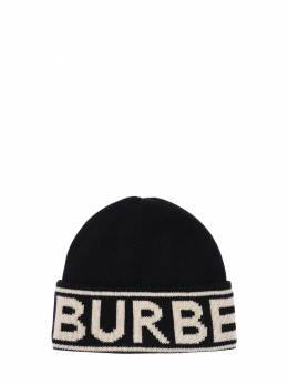 Logo Cashmere Knit Hat Burberry 71ID1H083-QTExODk1