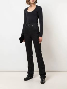 Helmut Lang scoop-neck long-sleeved top J09HW501
