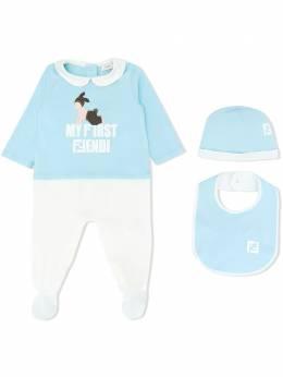"""Fendi Kids """"комплект из пижамы, нагрудника и шапки"""" BUK033ST8F0ZH9"""