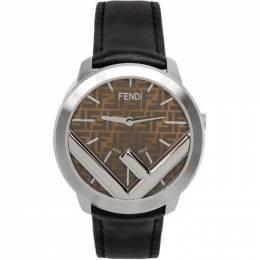 Fendi Silver and Black F is Fendi Run Away Watch 201693M16535901GB