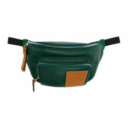 Loewe Green Puffy Bum Bag 192677M17100701GB