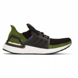 Adidas Originals Black and Green Ultraboost 19 Sneakers 192751M23711402GB
