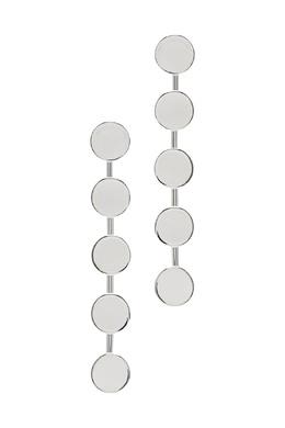 Серебристые серьги-дорожки с круглыми деталями Lisa Smith 1168166027