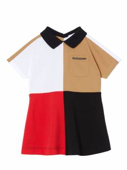 Color Block Cotton Polo Dress Burberry 71I937038-QTQxNTE1
