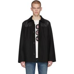 Nudie Jeans Black Bertie Donkey Jacket 201078M18003405GB