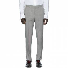 Hugo Grey Houndstooth Trousers 201084M19101005GB