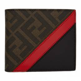 Fendi Black and Red Forever Fendi Bifold Wallet 201693M16402901GB