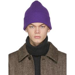 Harmony Purple Wool Wayne Beanie 192678M13800201GB