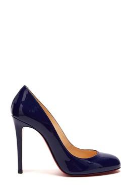 Синие лакированные туфли Fifille 100 Christian Louboutin 106107717