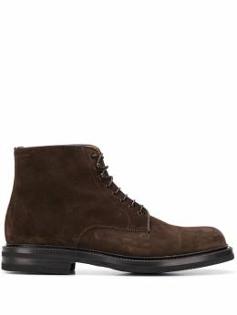 Green George burnished lace-up boots 12066541LIGHT