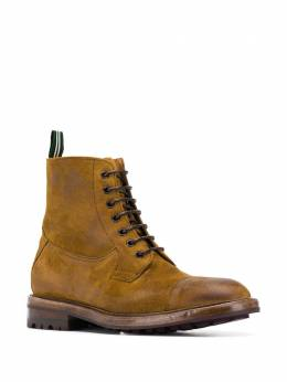Green George lace up ankle boots 000