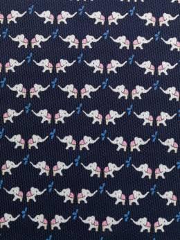 Salvatore Ferragamo elephant print tie 722116