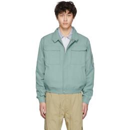 Random Identities Green Workwear Harrington Jacket 192172M18007804GB