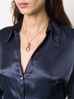 Salvatore Ferragamo logo detail necklace 727524