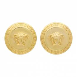 Versace Gold Tribute Coin Earrings 201404F02203501GB