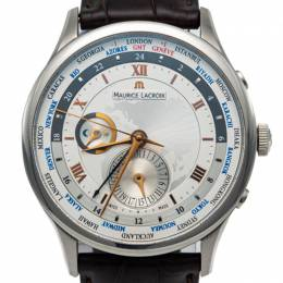 Maurice Lacroix Masterpiece Tradition Stainless Steel Worldtimer Automatic Men'S Watch 42MM 248156