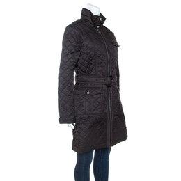 Burberry Black Diamond Quilted Coat M 245982