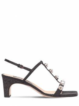 60mm Embellished Glitter Sandals Sergio Rossi 71IM1G013-MTQ5OA2