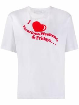 Victoria, Victoria Beckham футболка I Heart Weekends с принтом 2120JTS000450A