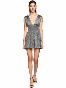 Jersey Lamè Mini Dress Saint Laurent 71IWJA006-MTA4MQ2