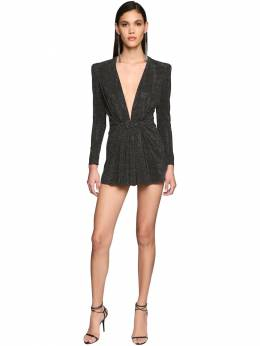 Belted Jersey Mini Dress Saint Laurent 71IWJA004-MTA4MQ2