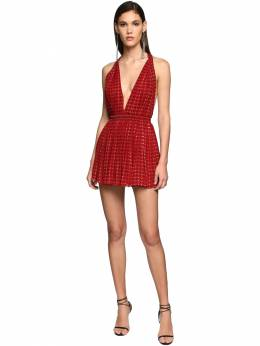 Printed Georgette Mini Dress Saint Laurent 71IWJA003-NjE2OQ2