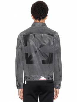 Waterproof Slim Denim Jean Jacket Off-White 71ILFA058-MDgxMA2