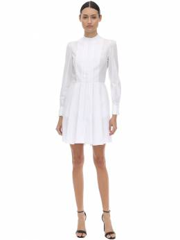 Cotton Poplin Mini Dress W/pique Detail Alexander McQueen 71IG12020-OTAwMA2
